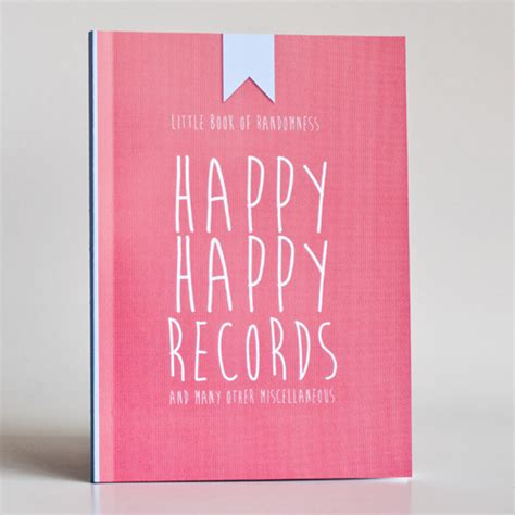 Be Happy Notebook happy happy records and many other misc notebook