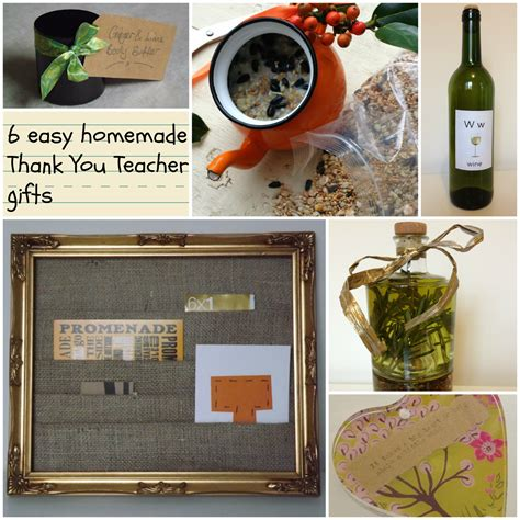 Thank You Gifts For Teachers Handmade - me and my shadow and easy gifts