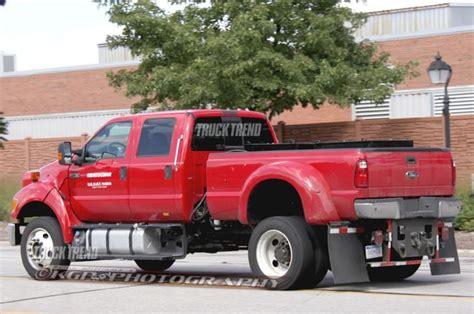 ford mega truck caught ford f 750 mega pickup prototype truck trend