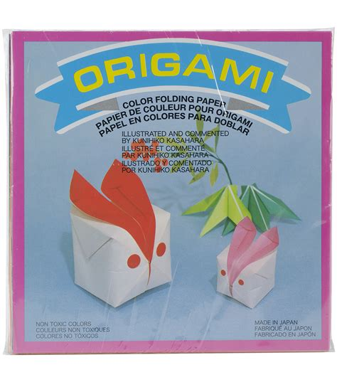 Solid Colored Origami Paper - aitoh solid color origami paper 300 pk jo