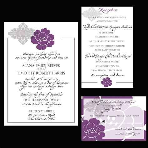 wedding announcements and reception invitations free wedding reception invitations for a bewitching