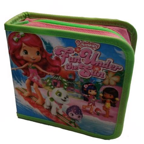 Tempat Cd Cd Box Motif Strawberry Shortcake Isi 40 T2909 jual beli cd tempat cd cd box strawberry