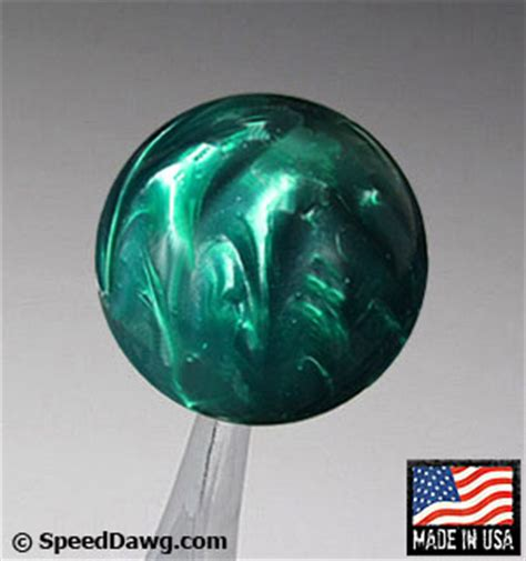 Green Shift Knob by Speed Dawg Racing Green Pearl Shift Knob