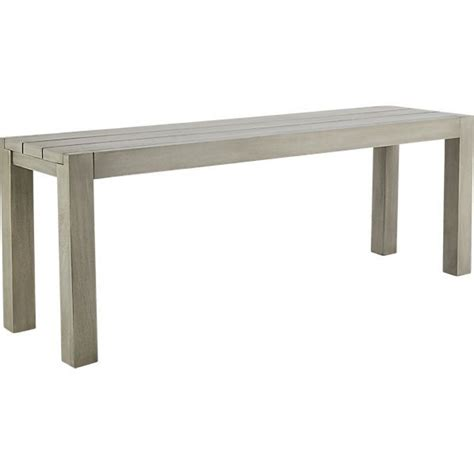 cb2 bench dockside ii bench for outdoor dining cb2 home sweet