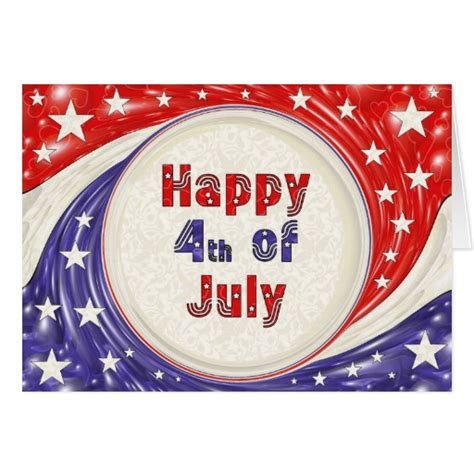 Happy Birthday 4th July Cards Happy Fourth Of July Greeting Card Zazzle