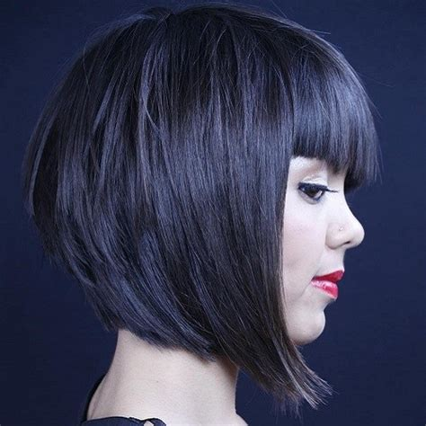 the cruddie haircut layered hair with blunt bangs latest bangs and layers