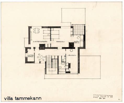alvar aalto floor plans villa tammekann 183 finnish architecture navigator