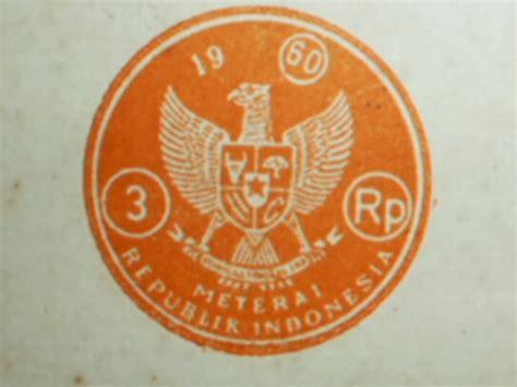 Kertas Segel Rp 3 Tahun 1957 budy antiques gallery kertas segel antik tahun 1960