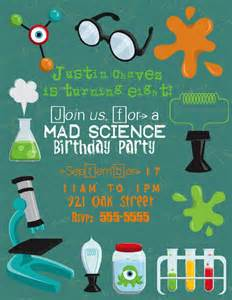river photo greetings mad scientist birthday invitations and favor tags
