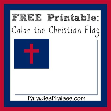 Christian Flag Coloring Page Free Printables For Homeschool And Church Use by Christian Flag Coloring Page