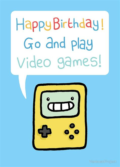 Printable Birthday Cards Video Games | quot video game birthday card quot by venkmanproject redbubble