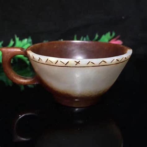 jade tea house hetian jade tea cup