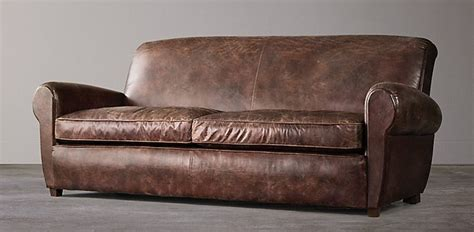 restoration hardware leather sofa parisian restoration hardware