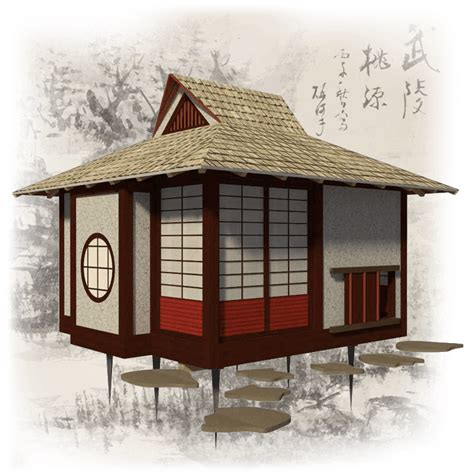 Cabin Cottage Plans by Japanese Tea House Plans