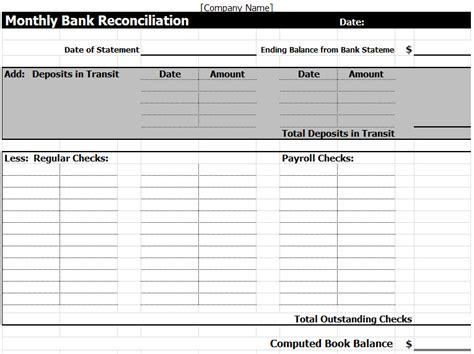 template bank bank reconciliation worksheet worksheets tataiza free