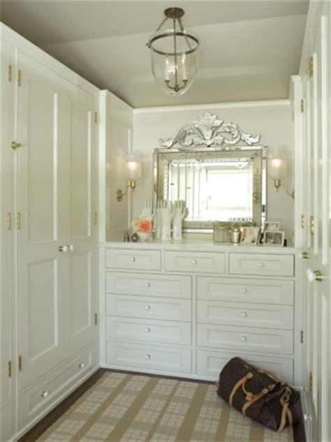 Walk In Closet Dresser Built In Dresser Transitional Closet Bradley Interior Design