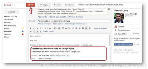 Calendario G Mail Gmail Como Criar Eventos Na Agenda Sem Sair Dele