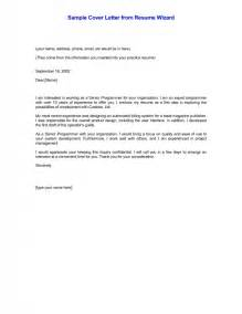 copy of cover letter for resume sles of resumes