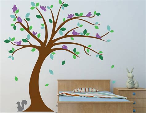 childrens wall stickers tree children s tree wall sticker set contemporary wall stickers