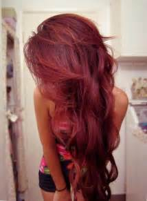 Dark cherry red hair fun to try as temporary color one summer or
