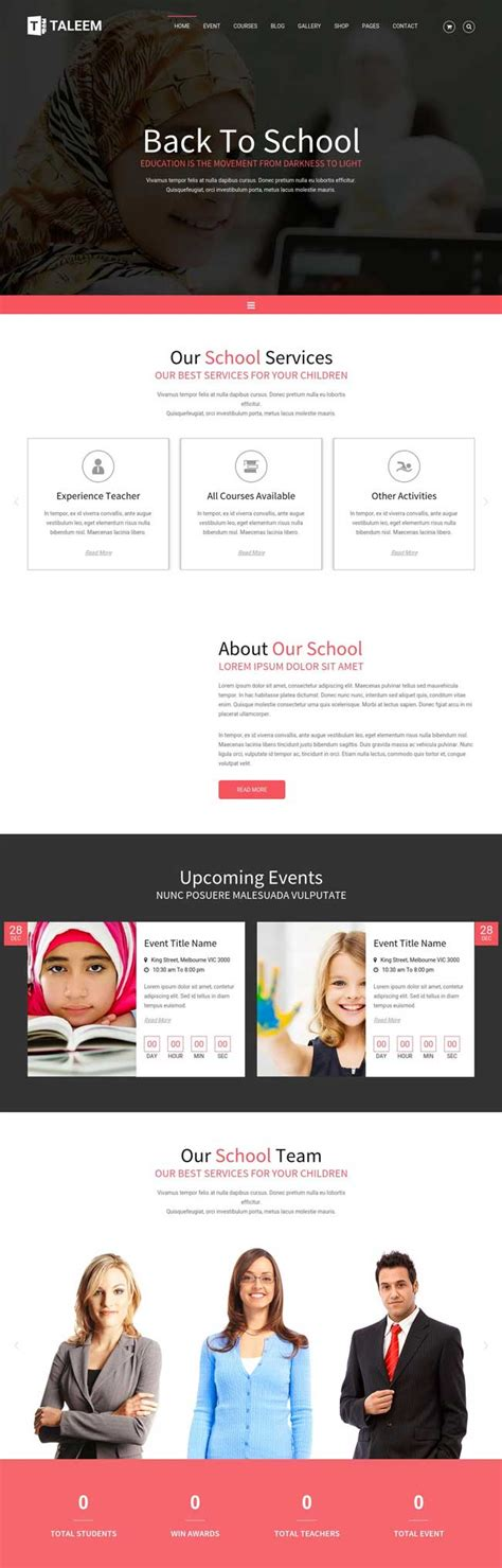 Education Event And Course Html Template 35 Best Education Responsive Html Templates For