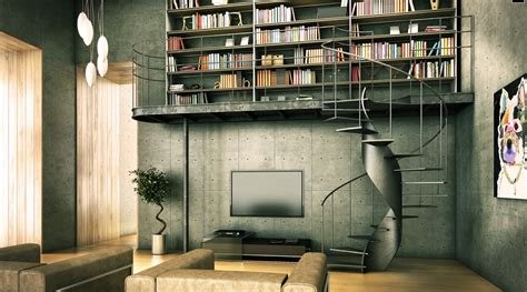 home interior book library inspiration