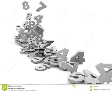 white background with falling numbers numbers falling stock photo image 28960180
