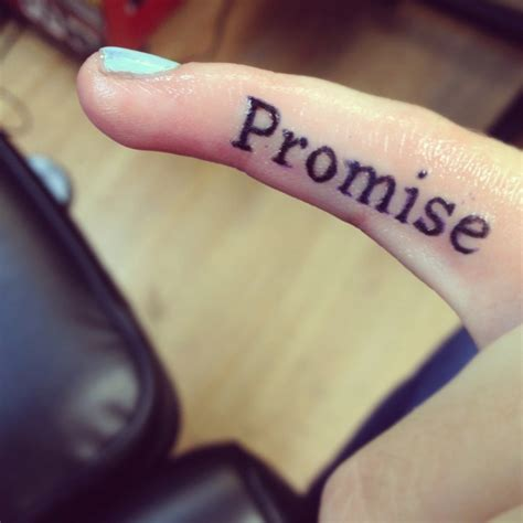 promise tattoo on pinky quot promise quot craving