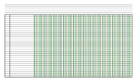 blank columnar paper   columns  legal sized paper  portrait orientation