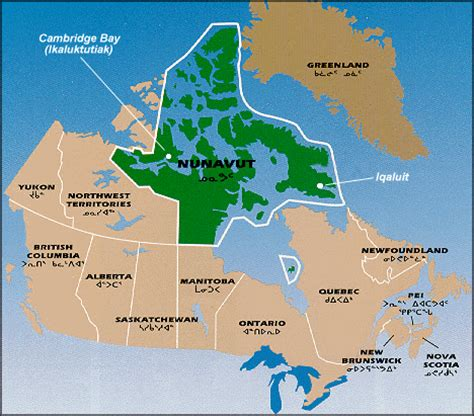 map of northern canada territories nunavut canada alive