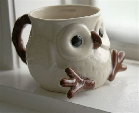 cute mugs snow owl mug via etsy shop lydiasvintage cute idea for