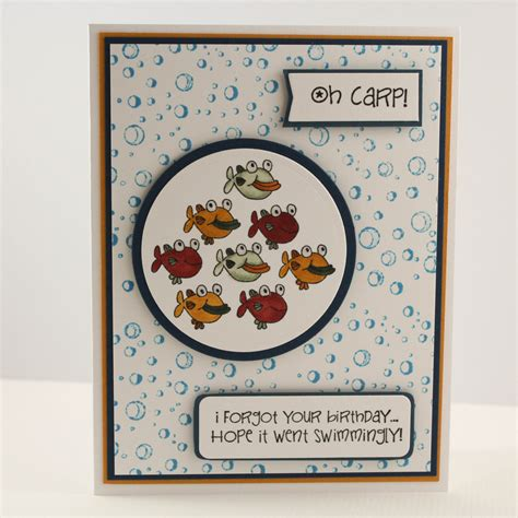 Handmade Belated Birthday Cards - belated birthday card fish birthday card handmade