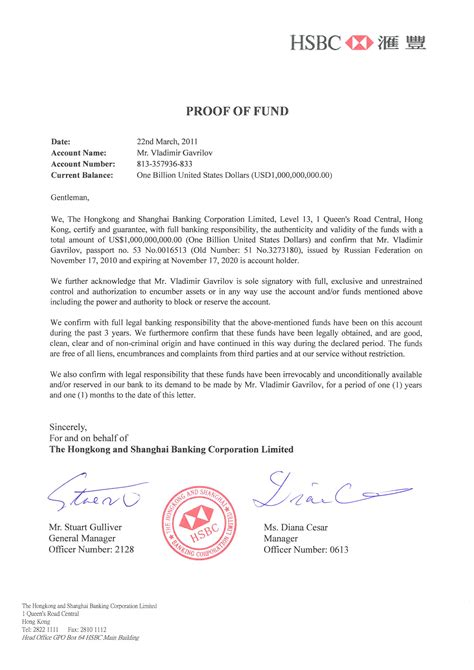 Proof Of Funds Letter Hsbc hsbc ppp kingdom page 47