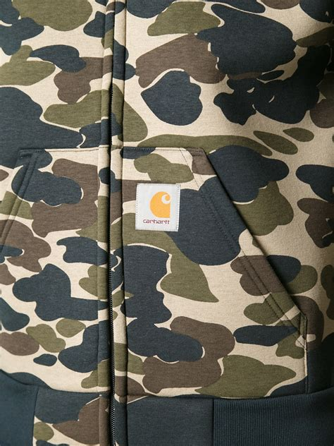 Jaket Hoodie Mr Robot 313 Clothing carhartt carlux camouflage hoodie in blue for lyst