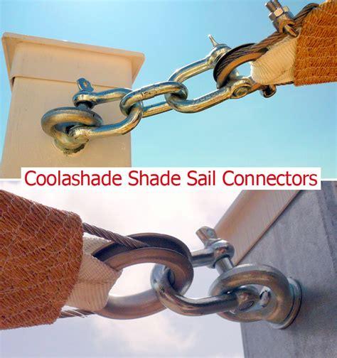 hinterhof schattensegel coolashade shade sail connectors strong and guaranteed