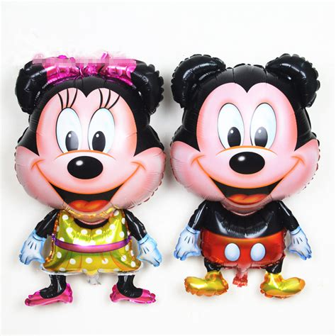 Balloonable Balon Foil Mickey Minnie Mouse aliexpress buy 2pcs lot large standing mickey minnie mouse foil balloons