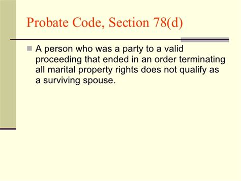 california probate code section 850 california law regarding when a spouse qualifies as a