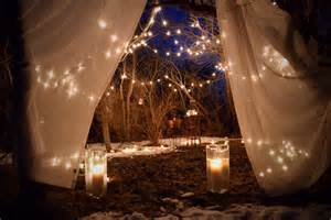 my proposal set up lights on the trees mason jars