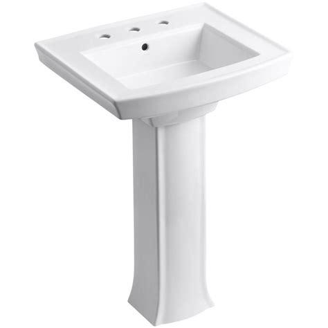 bathroom sink combo kohler archer vitreous china pedestal combo bathroom sink