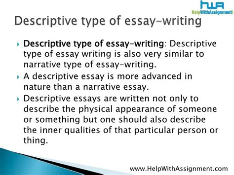 Sle Of Descriptive Essay About A Person by Types Of Writing Papers 28 Images Essay Topics Successful Strategies For Picking A Topic