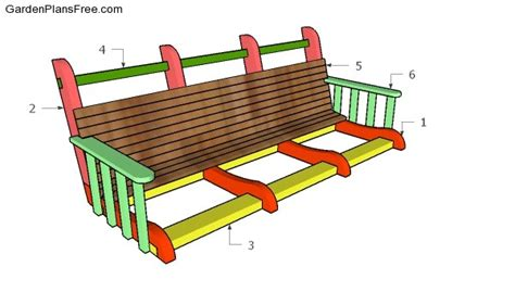 how to build a swing bench how to build a bench swing benches