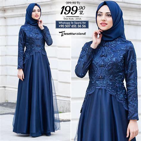 Moreva Biru Navy Gamis Wanita Busana Muslim Gamis Syari Tesett 252 Rl 252 Abiye Elbise Fiyonk Detayl箟 Lacivert Abiye