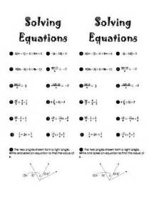 fractions solving equations and equation on pinterest