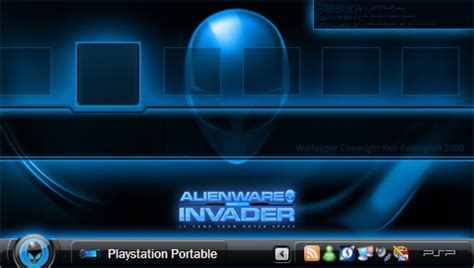 themes psp alienware alienware os by keir covington psp wallpapers