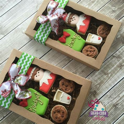 sugar coma cookies christmas elf on the shelf gift box