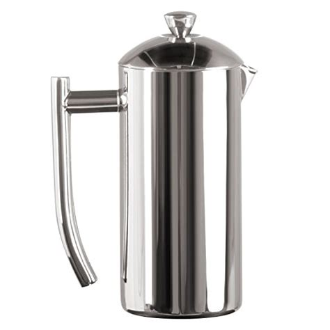 Frieling USA Double Wall Stainless Steel French Press Coffee Maker with Patented Dual Screen in