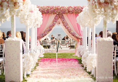 Wedding Ceremony Entrance extravagant pink wedding at the hotel coronado