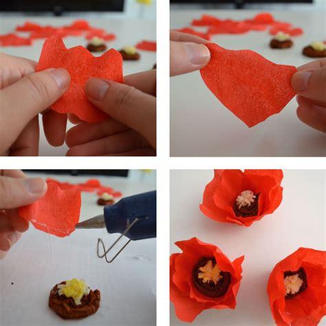 como hacer flores con papel crepe paso a paso tutorial c 243 mo hacer una amapola de papel crepe departamento de ideas