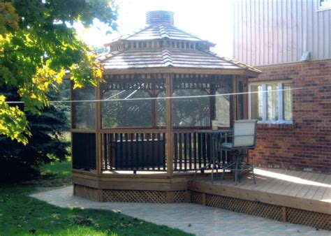 customize your octagon gazebo with a screen kit available