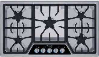 Best Gas Cooktops With Downdraft Thermador 36 Quot Stainless Steel 5 Burner Gas Cooktop